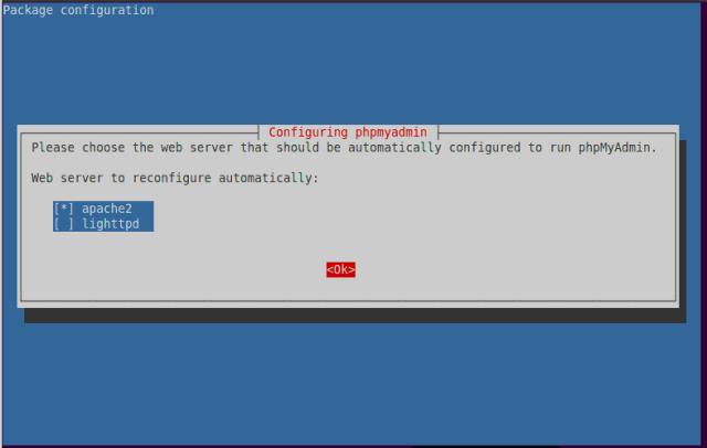 configure phpMyAdmin