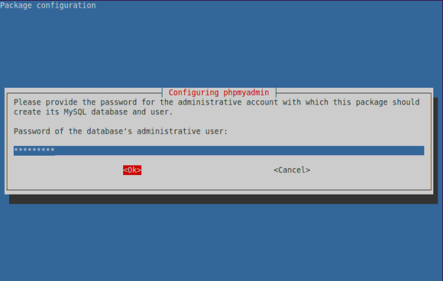 Database Administrator Password for MySQL Server