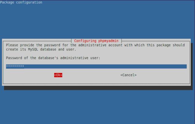 Database Administrator Password for MySQL Server