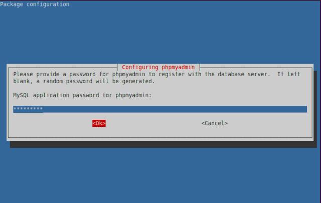MySQL Application Password for phpMyAdmin