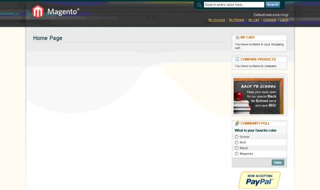 Bitnami Magento Home Page
