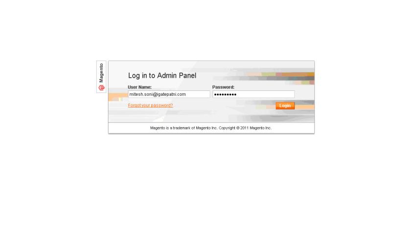 Magento - Login to Admin Panel