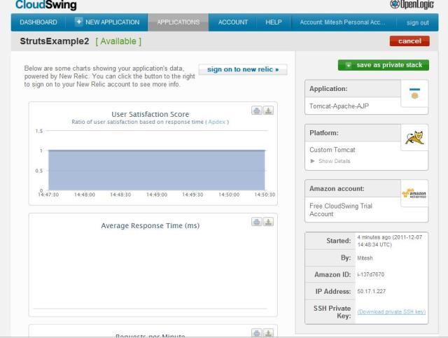 CloudSwing - instance details