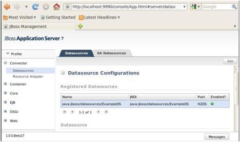JBoss Application Server 7 Admin Console