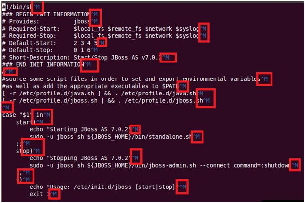 Error: JBoss 7 as a service on Ubuntu