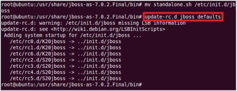 JBoss 7 as a service on Ubuntu - Save Changes