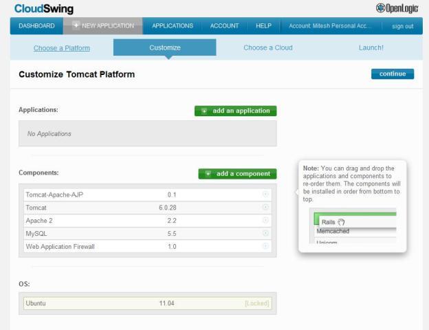 CloudSwing - customize the tomcat platform
