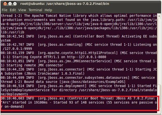 JBoss Running