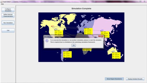 CloudAnalyst - Simulation Error