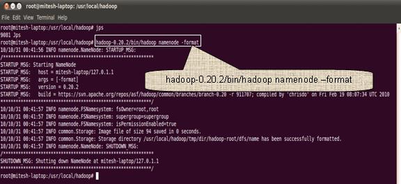 hadoop namenode -format