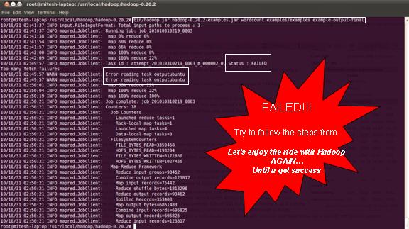 Failed Hadoop Job