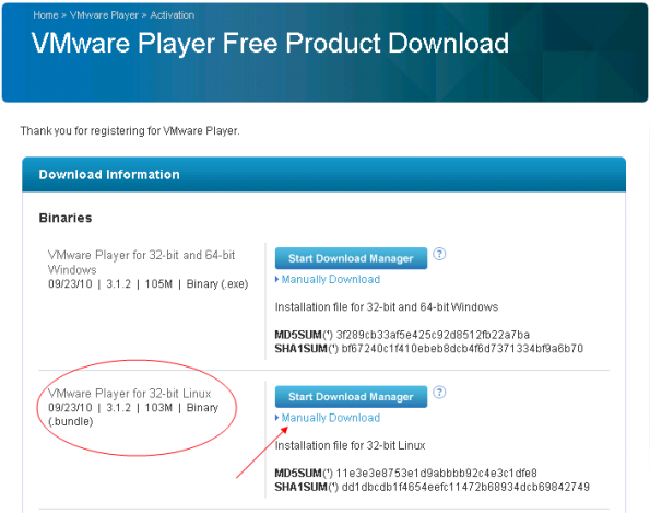 VMware Player Free Product Download