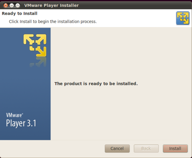 VMware Player - Ready to install