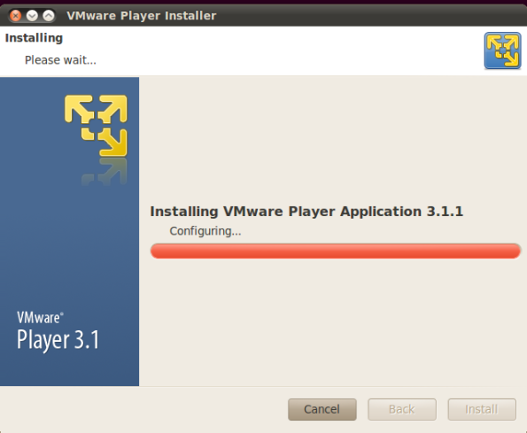 VMware Player - installing
