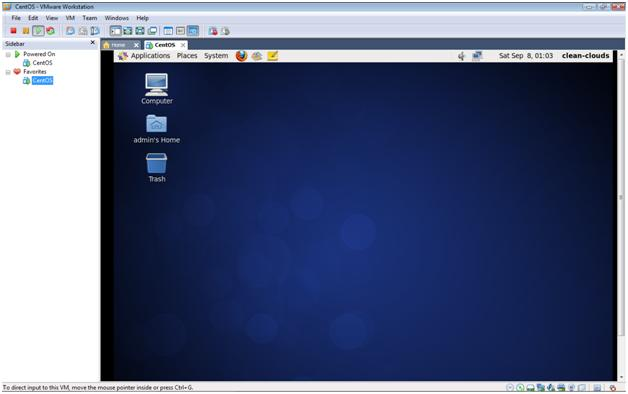 CentOS 6.3 Desktop in VMware Workstation 7.1