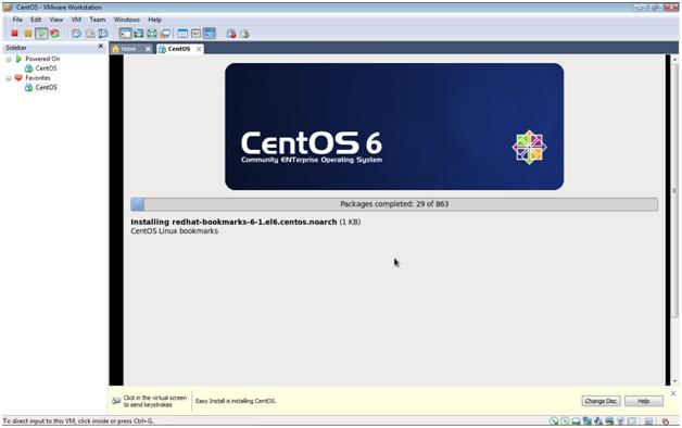 CentOS 6.3 installation in VMware Workstation 7.1