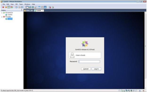 CentOS 6.3 Login in VMware Workstation 7.1