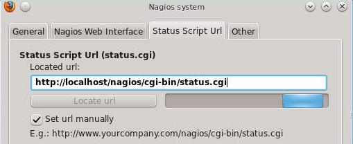 Nagios Checker Settings - Script URL