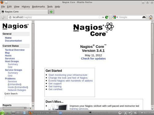Nagios Web Interface