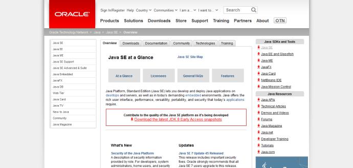 1.Java SE at Glance