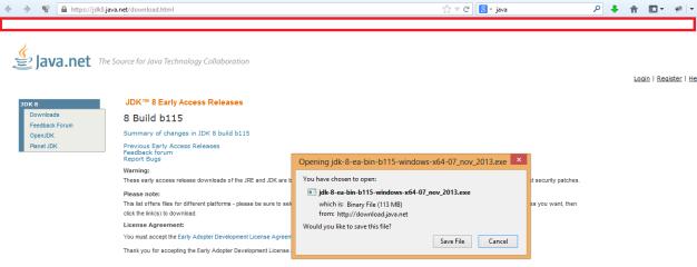 4. JDK 8 Download