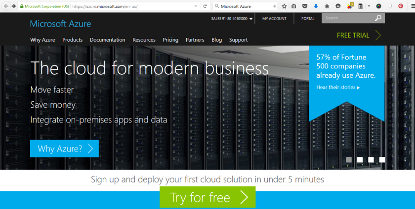Microsoft Azure Free Trial