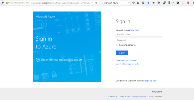 Sign in Azure