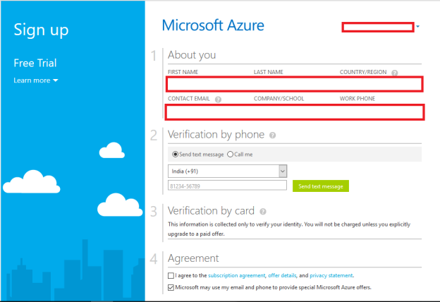 Microsoft Azure Details Free Trail
