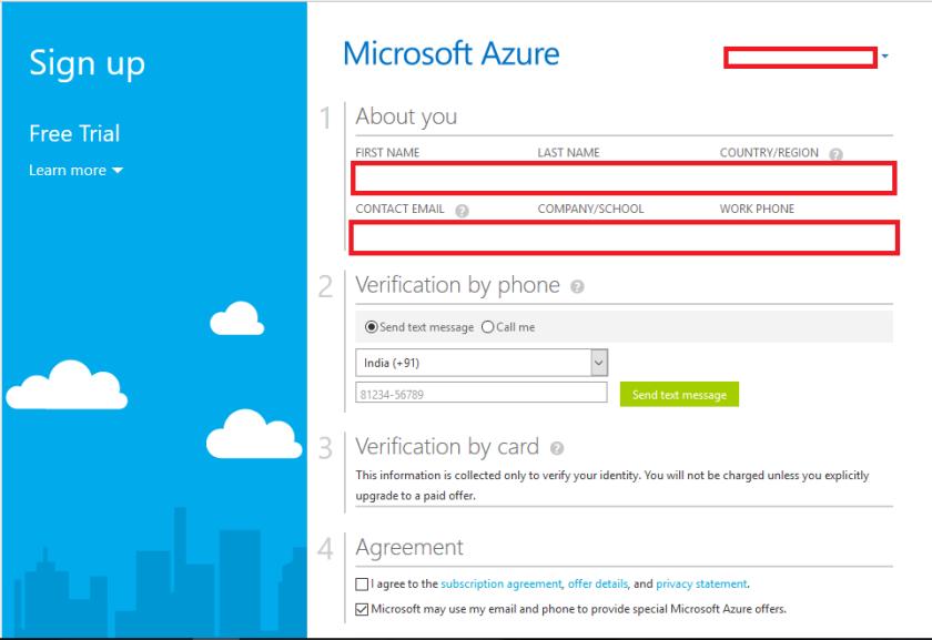 Microsoft Azure Details Free Trail