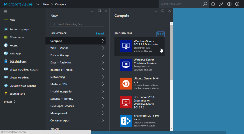 Azure-Create New Virtual Machine