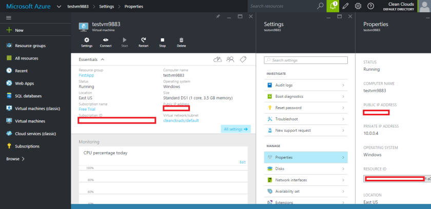 Microsoft Azure-Virtual Machine-Created Successfully
