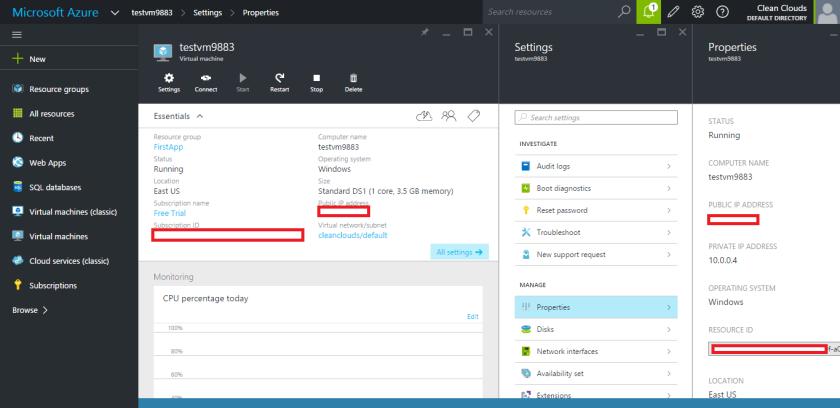 Microsoft Azure-Virtual Machine-Created Successfully