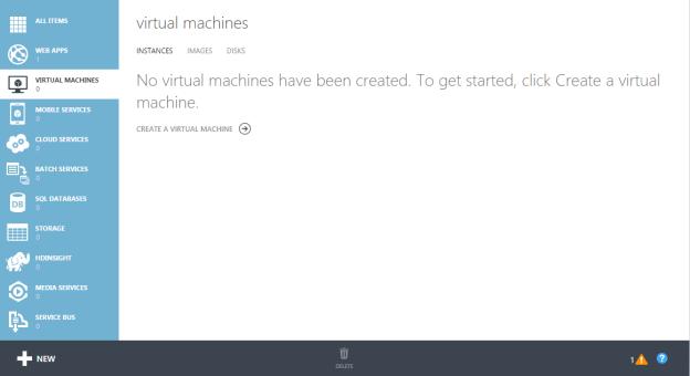 Microsoft Azure Virtual Machine in Classic Model