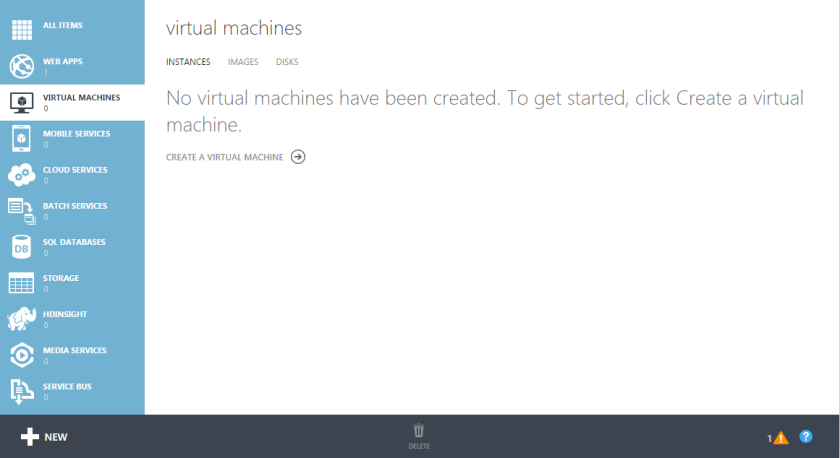 Microsoft Azure Virtual Machine in Classic Model