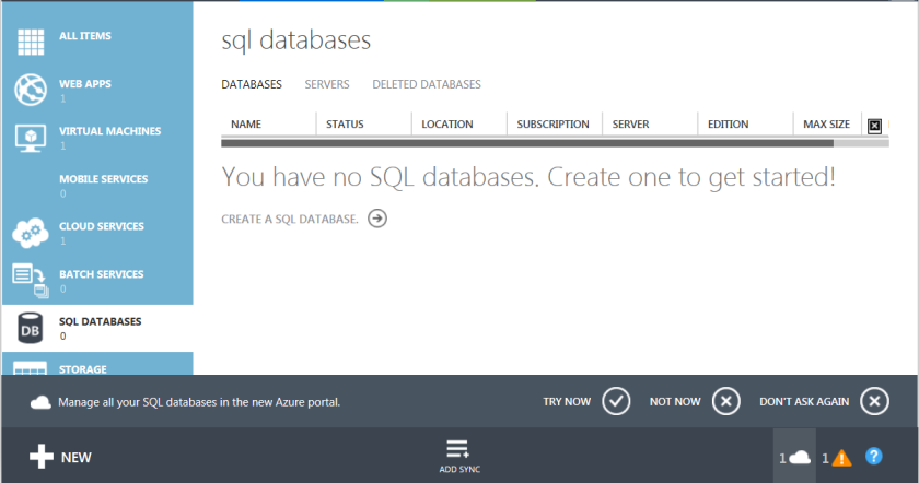 1.Azure SQL Databases