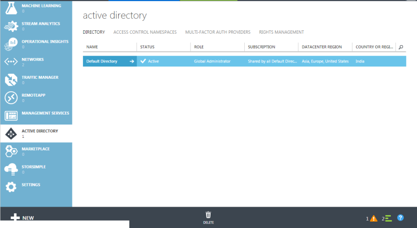18.Azure Active Directory from Azure Management Portal