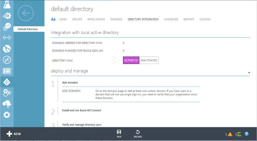 29.Azure Active Directory-Directory Synchronization Activated