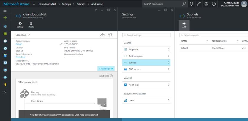 6.Microsoft Azure Preview Portal-Virtual Network-Subnet