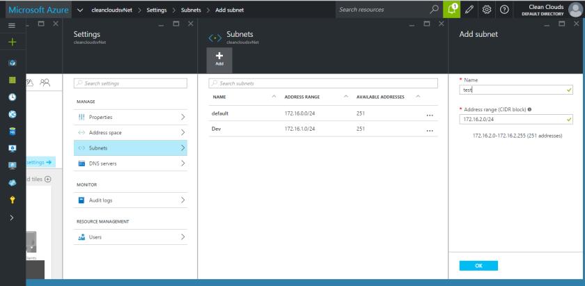 7.Microsoft Azure Preview Portal-Virtual Network-Subnet-Test