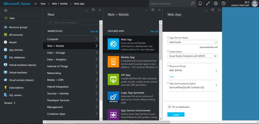 MIcrosoft Azure Web App